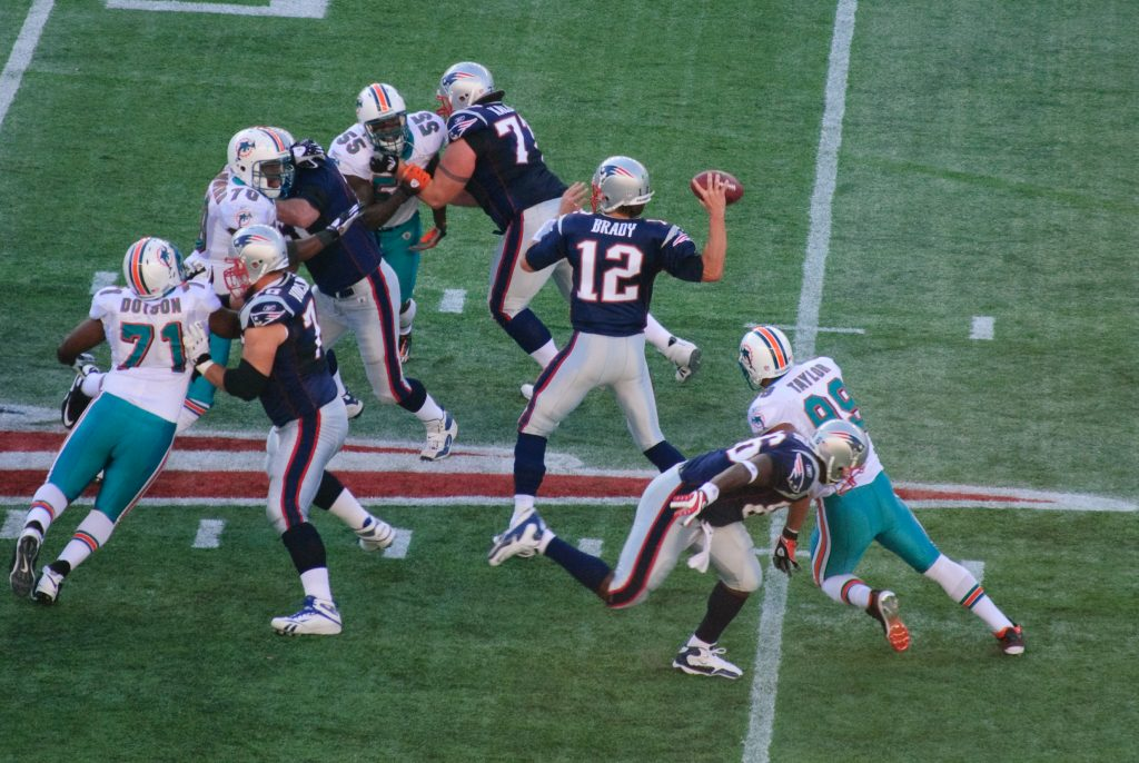 Tom Brady AFC East Divisional Match Up Miami Dolphins New England Patriots
