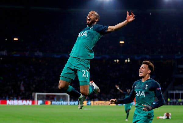 Moura hat trick sends Spurs to UCL Final