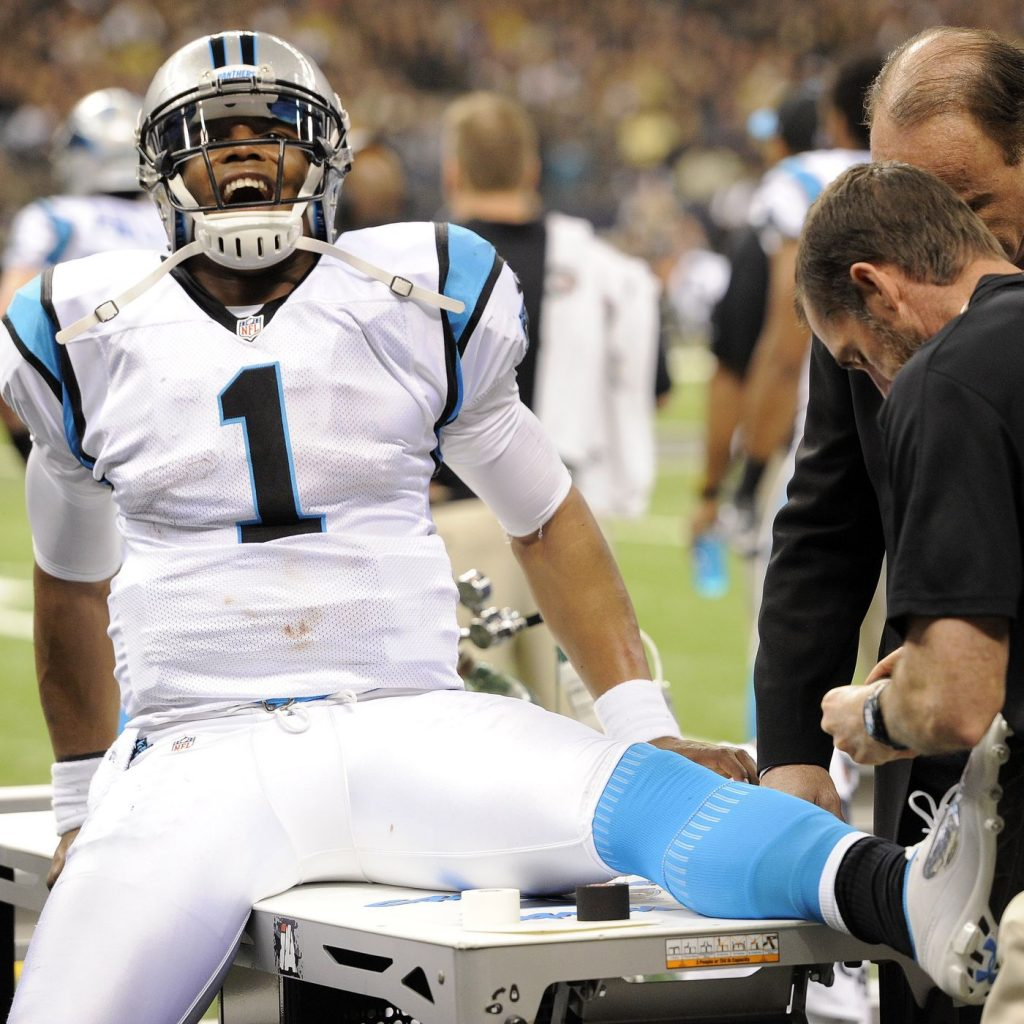 Is Cam Newton healthy? If he is the Patriots have almost won the AFC East already