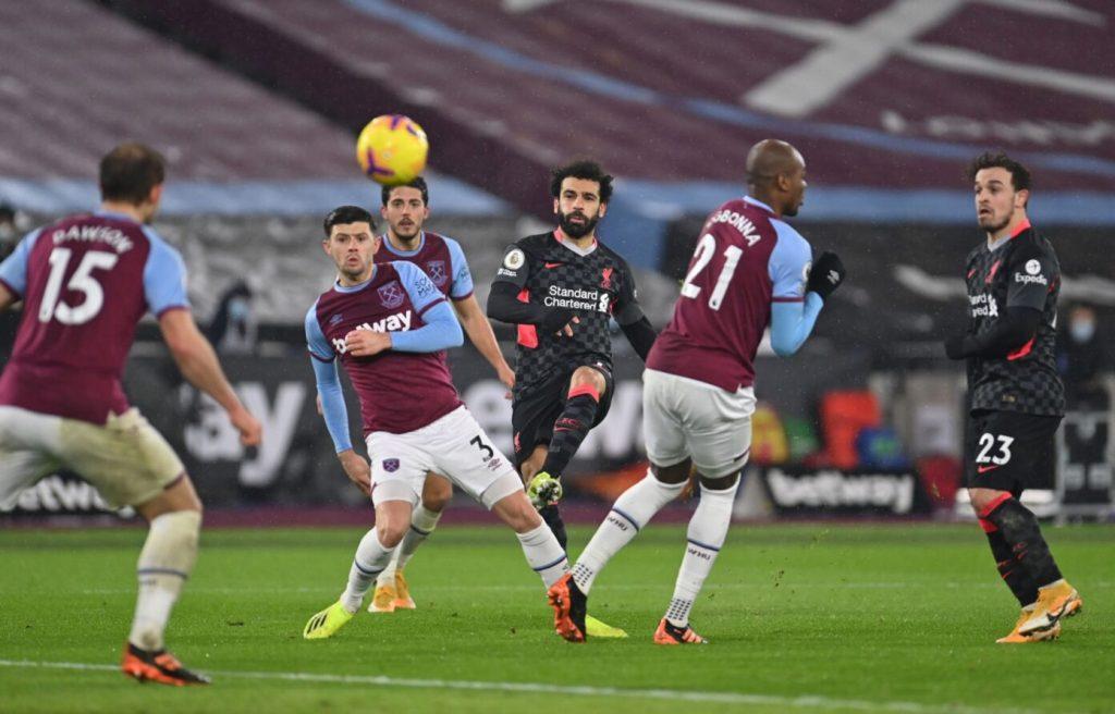 Mohamed Salah scored two goals against West Ham in January.